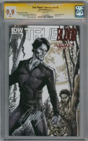 True Blood Tainted Love #1 RI-A Variant CGC 9.9 Signature Series Signed J Scott Campbell IDW comic